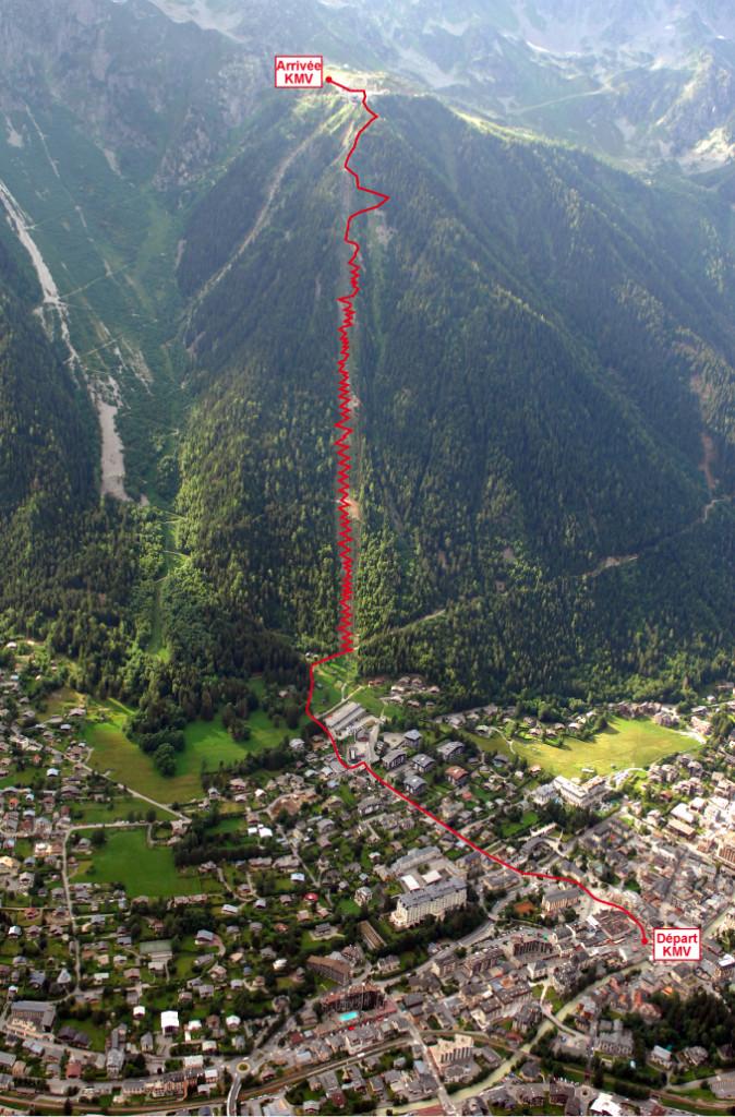 Trasa Mont Blanc Vertical Kilometer