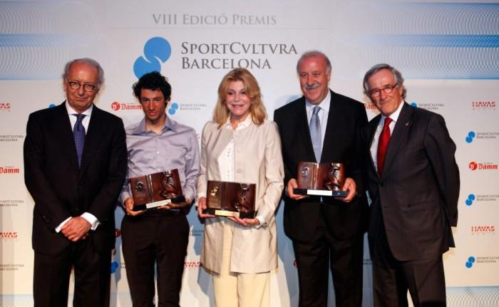 Manuel Carles Fisas,Kilian Jornet,Baronesa Carmen Thyssen-Bornemisza,Vicente del BosqueaXavier Trias